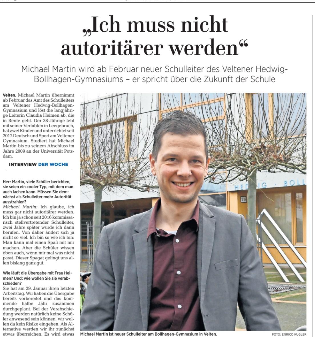 Interview Herr Martin