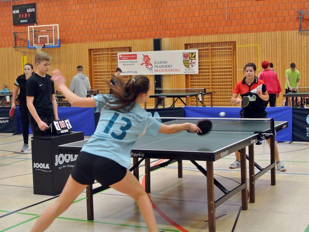 Spieler der Tischtennis AG im Landesfinale von Jugend trainiert für Olympia